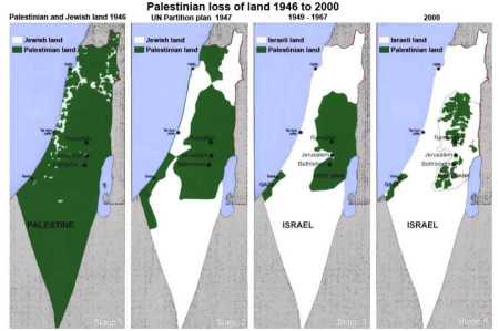Peta Tanah Palestina Yang Dicaplok Yahudi Israel