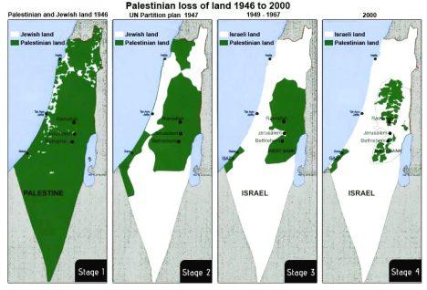 Wilayah Palestina dari Tahun ke Tahun..